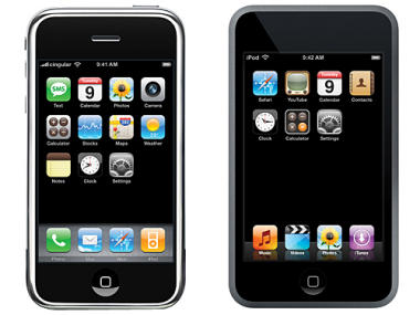 iPhone and iPod Touch side-by-side