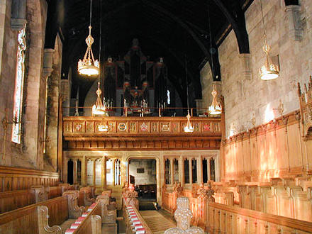 Interior of St Salvator's Chapel