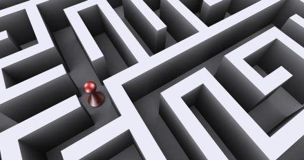 Figure in a maze