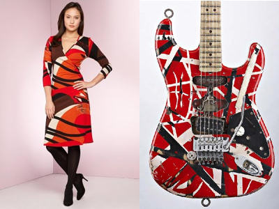 Dress and Eddie Van Halen's guitar