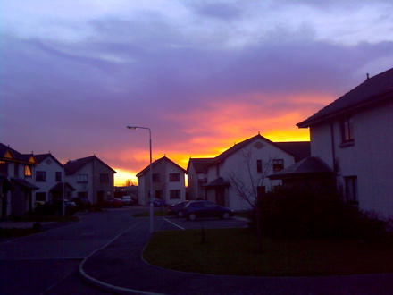 Red sunset over Anstruther