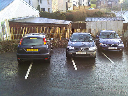 Cars parked very badly