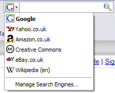 Screenshot of the Firefox search box