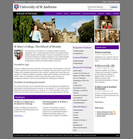 School of Divinity website
