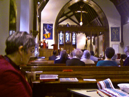 Bishop Brian preaching at St John's Selkirk