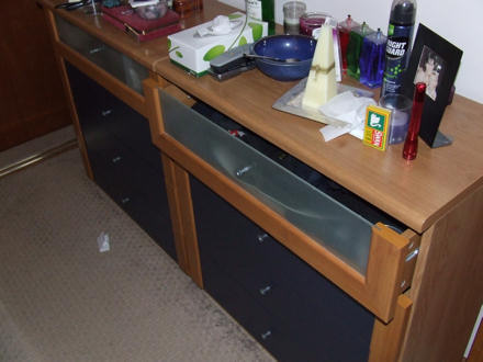 Two chests of drawers - one has a mouse underneath!