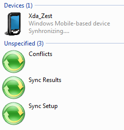 Windows Mobile-based device Synhronizing....