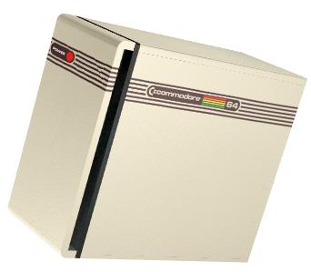 Commodore PC in the colours of a Commodore 64