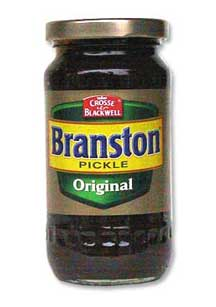 A jar of Branston pickle