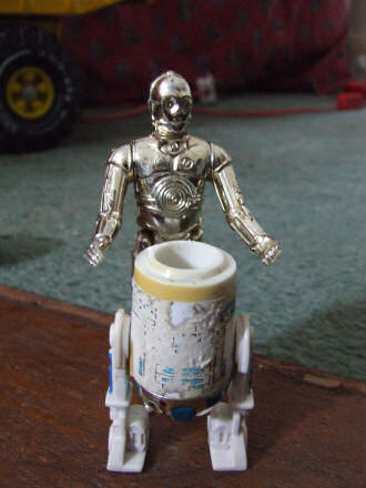 C-3PO and R2-D2 toys