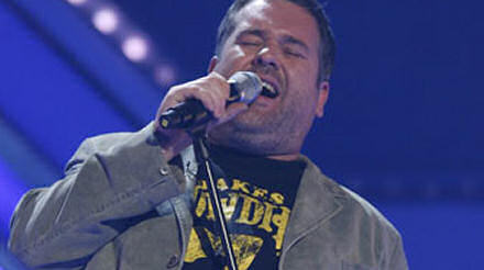 Chris Moyles singing on X-Factor