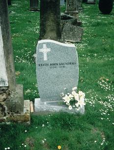 Keith Saunders' grave stone