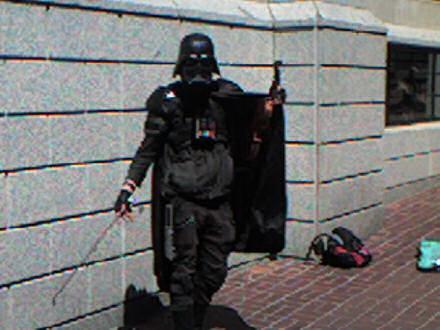 Darth Vader playing the violin.