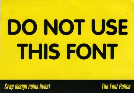 Do Not Use This Font