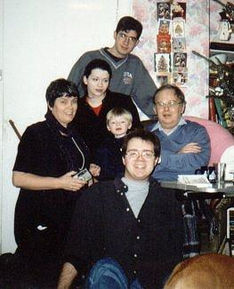 Saunders family, Christmas day 1997