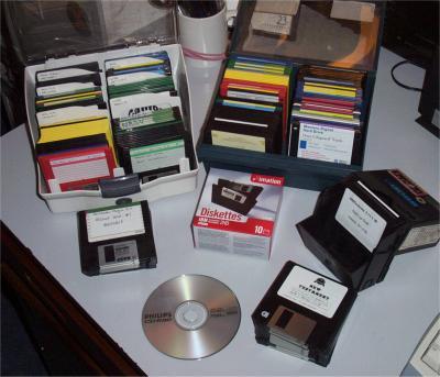 Floppy disks ... 208 of them