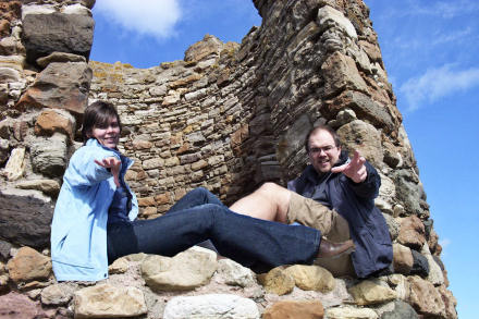 Jane and Gareth at Lady\'s Tower, Elie, Fife