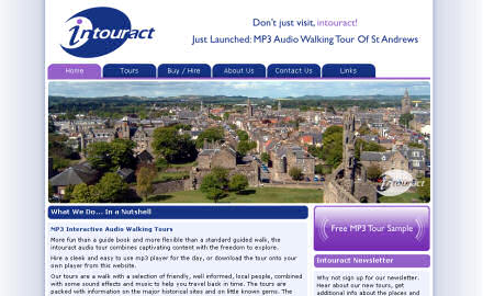 Screenshot of Intouract website