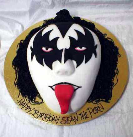 Gene Simmons birthday cake