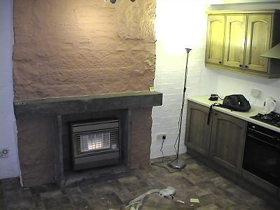 Kitchen with flooring