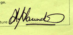 Signature reads K.J.Saunders