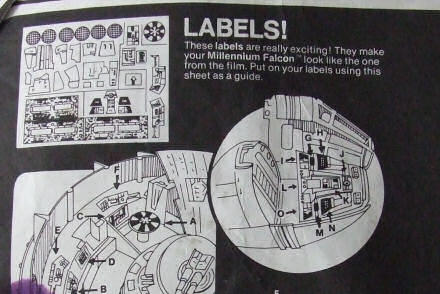 Text reads: Labels! These labels are really exciting!
