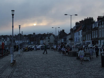 Darkening sky over Anstruther harbour.