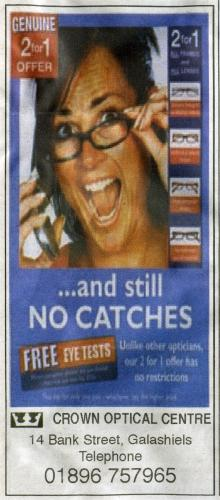 Optician advert
