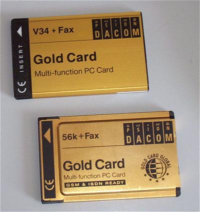 Psion Dacom Gold Card modems