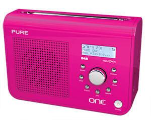 Pink Pure One DAB radio