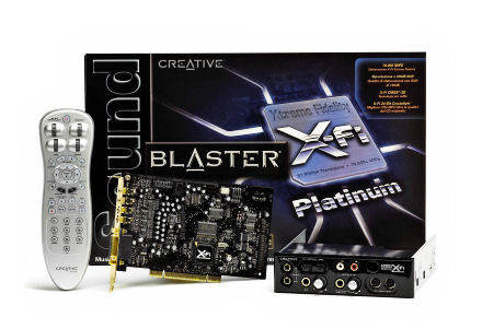 Creative Sound Blaster X-Fi Platinum box, card and remote