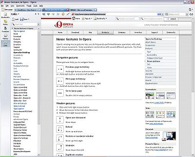 Opera 8 screenshot