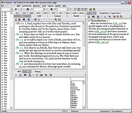 Screenshot of eSword Bible software