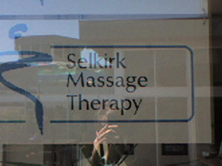 Sign reading Selkirk Massage Therapy