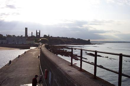 Looking back at St Andrews from the end of the pier