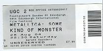 Some Kind of Monster cinema ticket