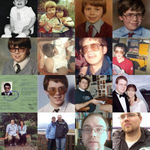 Montage of photos of me through the years