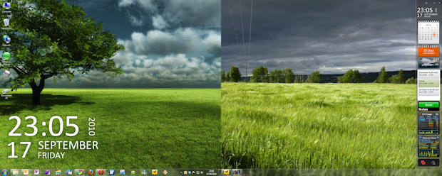 Windows 7 dual-monitor with gadgets