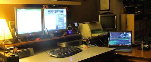 Gareth's desk