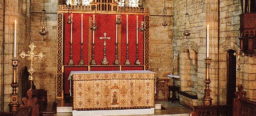 High altar at All Saints, St Andrews