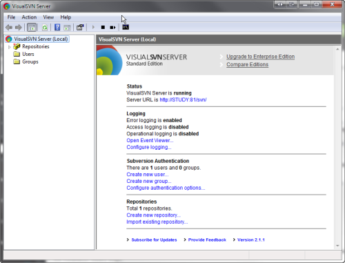 VisualSVN Server Standard edition