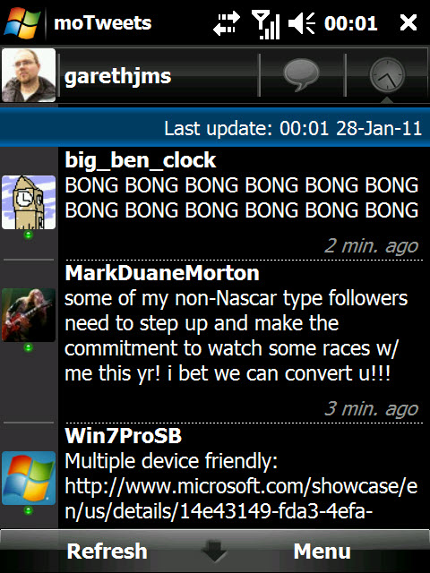 moTweets for Windows Mobile