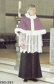 Priest in vestments