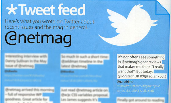 Tweet feed from dot net magazine
