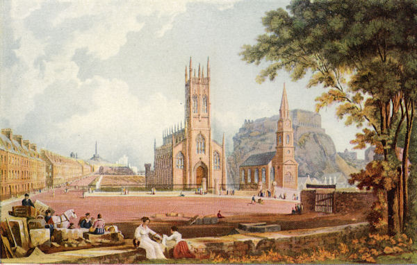 Edinburgh from the West End of Princes Street, 1824