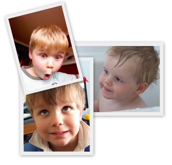 Clockwise from top: Joshua, Isaac and Reuben.