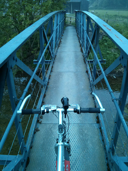 Rather than riding through the ford, I decided to take the narrow bridge instead.