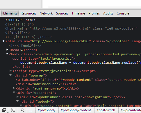 Google Chrome developer tools with Tomorrow theme