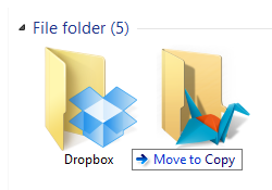 Move files from Dropbox folder to Copy folder
