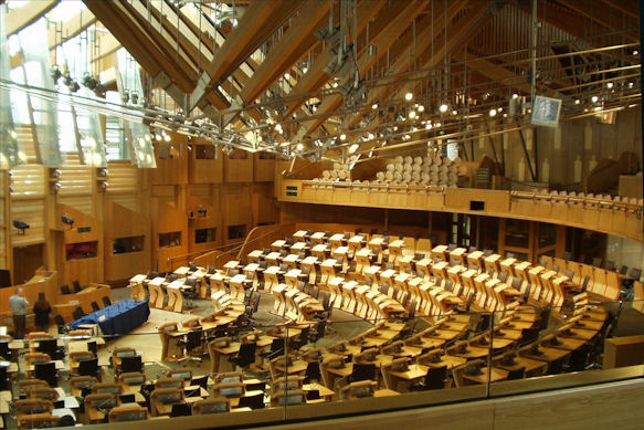 Debating chamber, Scottish Parliament